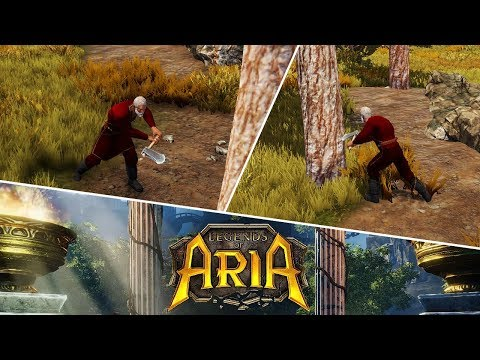 Legends of Aria Gameplay (Low/Mid GFX) Created an Archer, Lumberjack & Carpenter Character