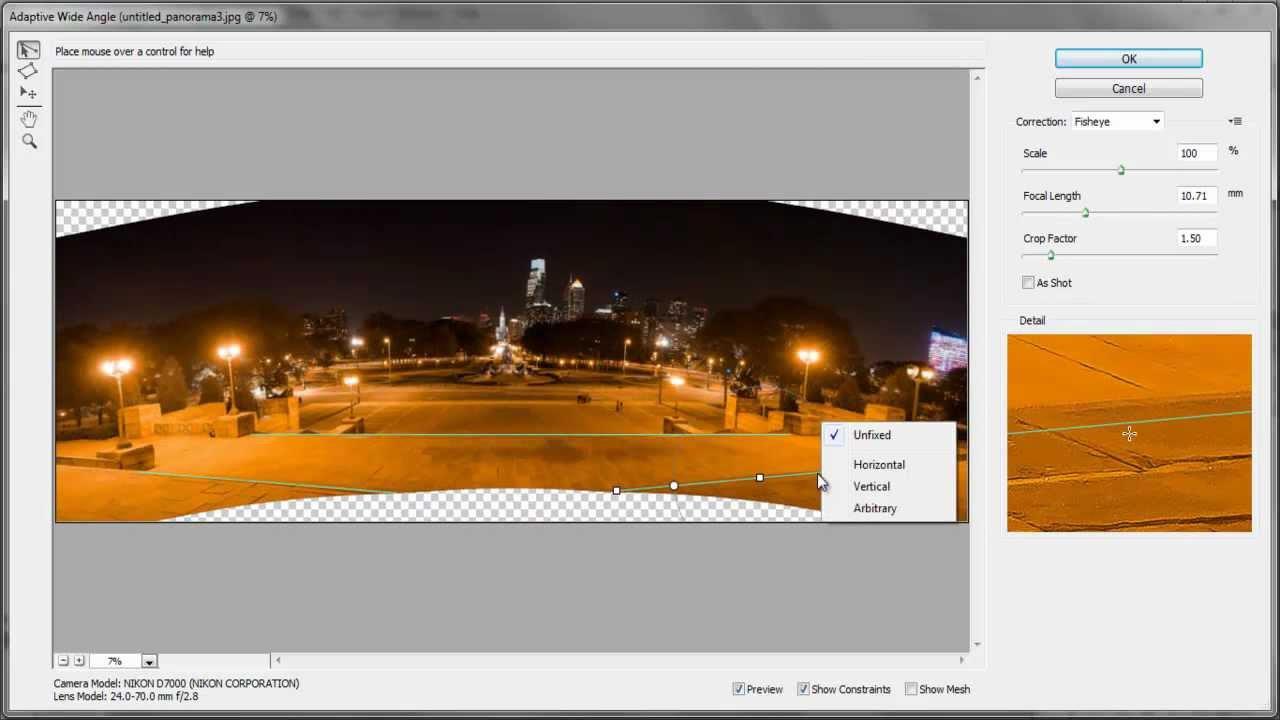straighten panorama photoshop cs6