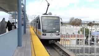 LA Metro Rail: 1999 Siemens P2000 Expo Line at Expo/La Brea Station (Santa Monica Bound)