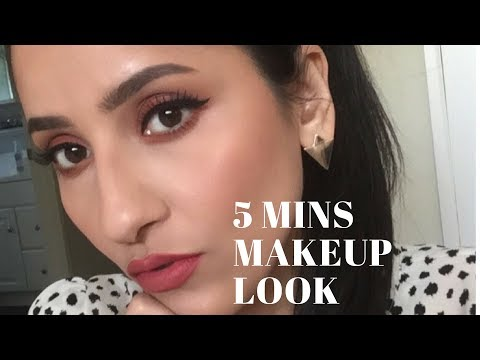How to - 5 min makeup look for Brown/Dark eyes