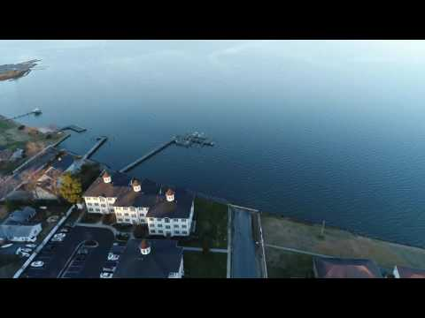 Aerial Flight Around the Choptank River in Cambridge Maryland