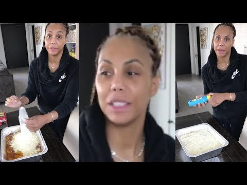 Tamar Braxton showing people how to cook with no makeup on (2018)