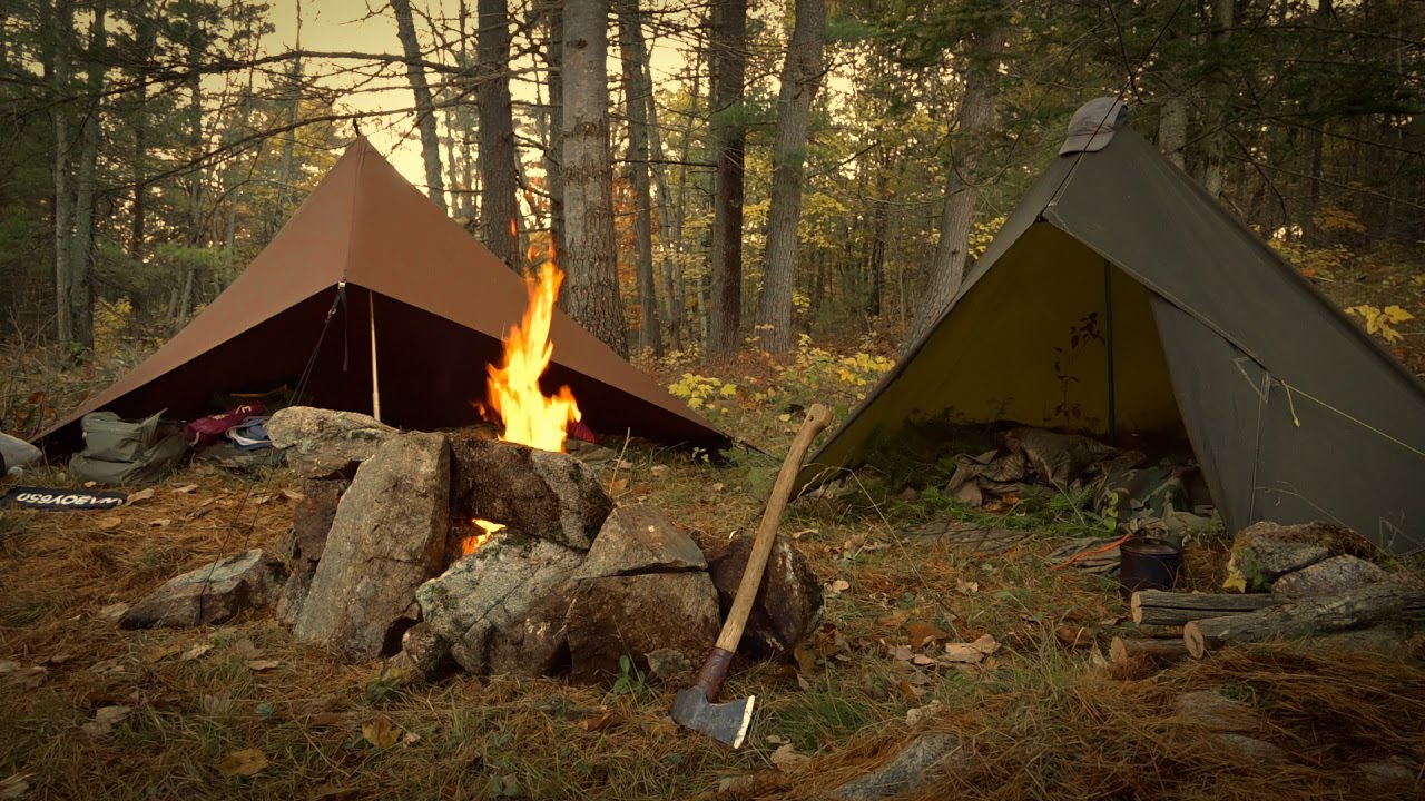 CAMP VIBES - Ląte Fall Camping Trip with an OLD Friend. Beautiful Fall Colors, Steak, Firepit Build.