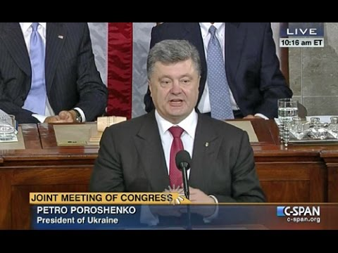 Ukrainian President Poroshenko in Washington (English)