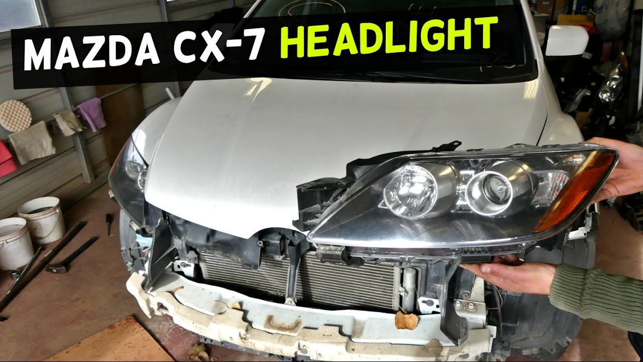 hight resolution of mazda cx 7 headlight removal replacement headlight assembly replacement youtube