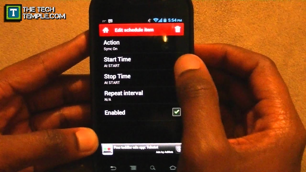 Make Android's Auto Sync Turn On & Off by Itself [App Slackin']