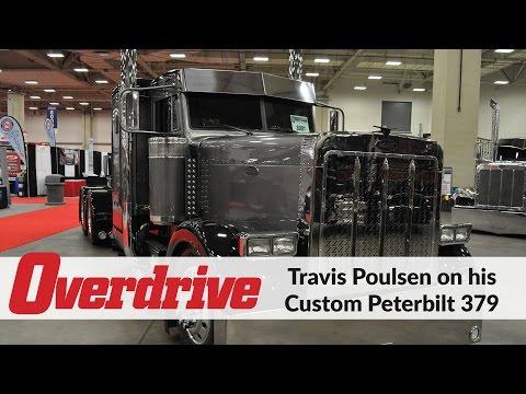 Travis Poulsen on his custom Peterbilt 379