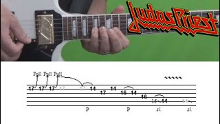 Judas Priest - You've Got Another Thing Comin' - Guitar Solo Lesson, with Tabs!