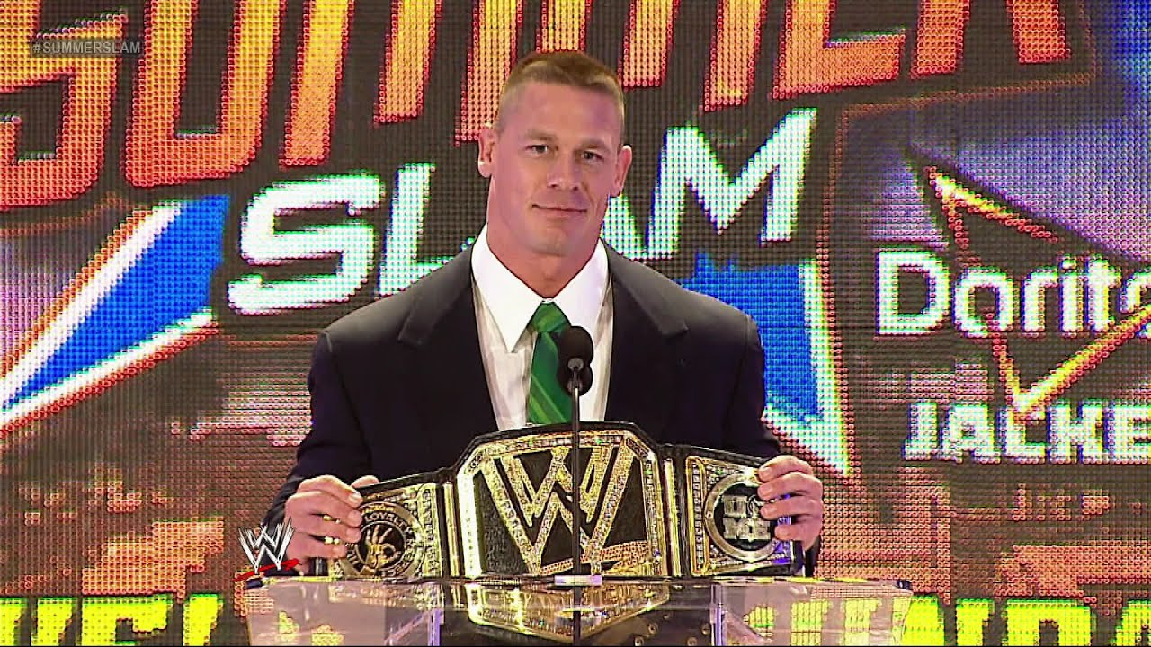 John Cena Discusses The WWE Title Match At SummerSlam 2013 Press Conference