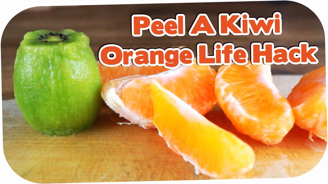 How To Peel A Kiwi Or Orange The Fastest Way! Life Hack