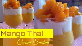 """Minuman Kekinian """" Mango Thai Cream Santan """" Rasanya Seger Gurih Dan Muaniiss..."""
