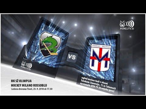 AHL: HK SŽ Olimpija - Hockey Milano Rossoblu