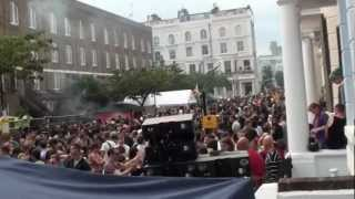 DISCO HUSTLERS SOUND SYSTEM-DJ GIOVANNI ft PARTY POPPER NOTTING HILL CARNIVAL 2012