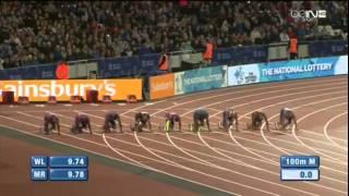 Usain Bolt 9.87 - 100m Men FINAL (Diamond League-2015. London)