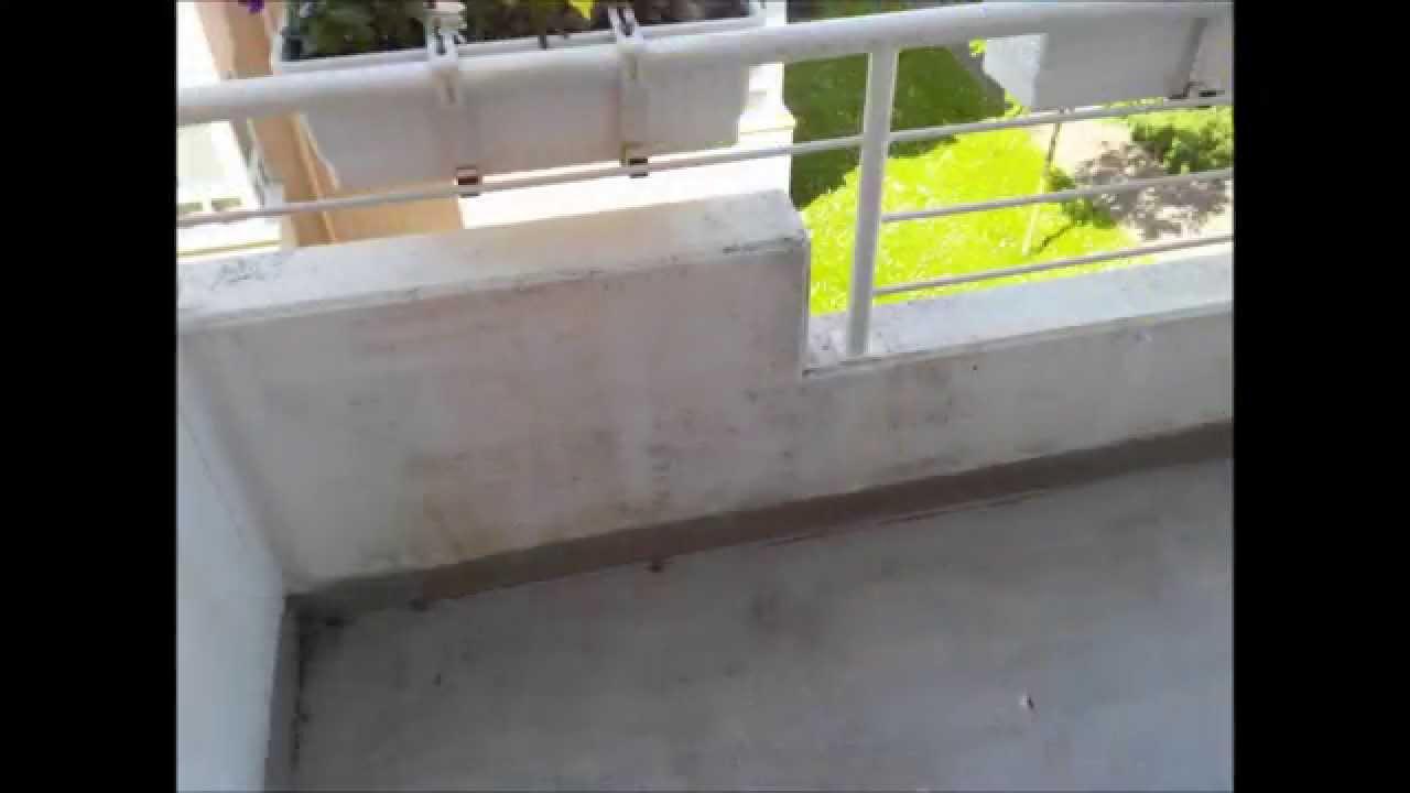 neuanstrich eines balkon - youtube