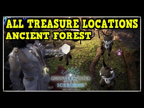 MHW Iceborne Ancient Forest All Treasure Locations - Ultimate Collector Trophy / Achievement Guide