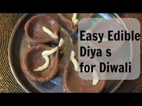 Edible Diya s for Diwali in 15 mins  | Diwali Cooking!