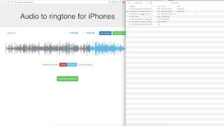 Create your custom iphone ringtone from audio files (mp3).