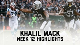 Khalil Mack's Historic Game! | Panthers vs. Raiders | NFL Week 12 Player Highlights