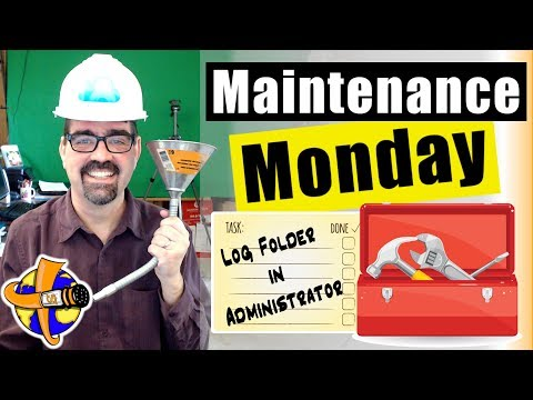 Log Folder Location should be in the Administrator Folder - 🛠 Maintenance Monday Live Stream #034