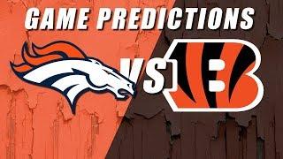 Denver Broncos vs Cincinnati Bengals Predictions