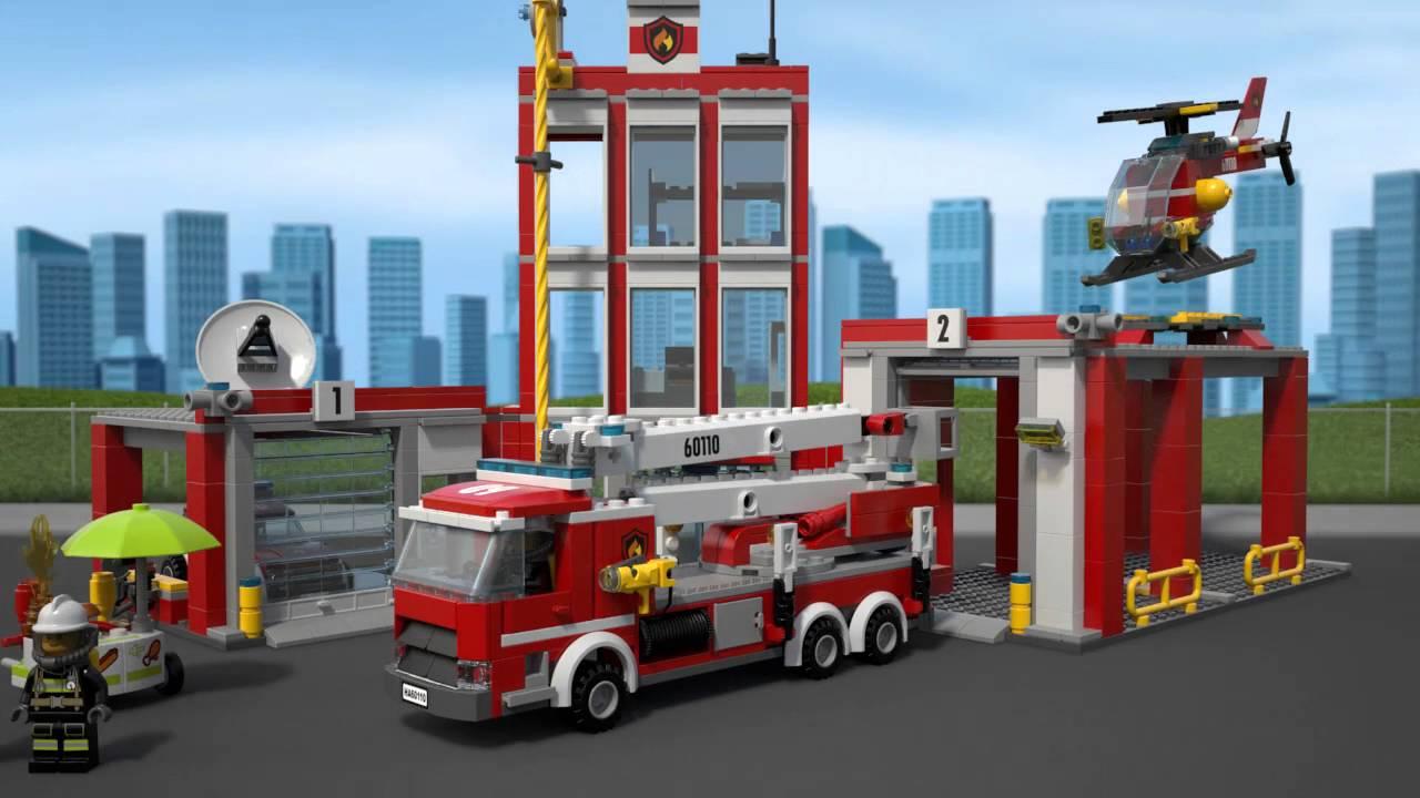 lego city la caserne des pompiers 60110 au meilleur. Black Bedroom Furniture Sets. Home Design Ideas