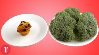 This Is What 200 Calories Look Like: Junk vs. Healthy Food