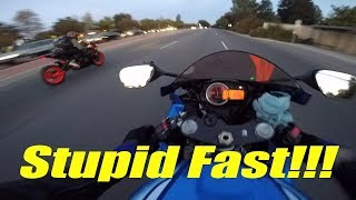 Racing a Stretched Bike! | Idiot Motorcyclist Lanesplitter