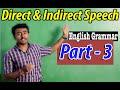 Direct & Indirect Spech. English Grammar Part 3