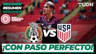 Resumen y goles   México vs Estados Unidos   Preolímpico Tokyo 2020   TUDN