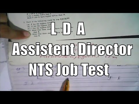 Analytical Reasoning for LDA Lahore Assistant Director NTS Jobs Test and all other tests GAT HAT