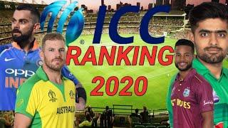 ICC ranking 2020 All format Odi test T20 Virat Kohli
