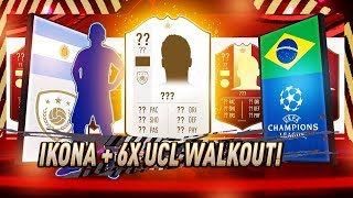 6x UCL WALKOUT, IKONA! NAGRODY ZA ELITĘ! SUPER PACZKI | FIFA 19 JUNAJTED