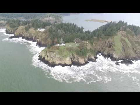 Cape Disappointment and North Jetty with a Phantom 3Pro (no music)