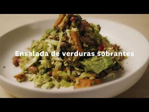 Thumbnail to launch Leftover Vegetable Salad Spanish video