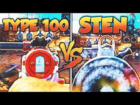 STEN vs TYPE 100! - Which OVERPOWERED COD WW2 GUN is BETTER?! (WW2 DLC Weapon Stats)