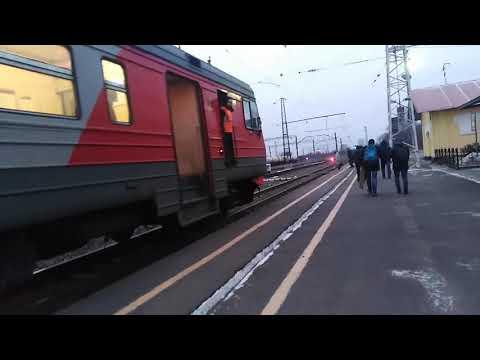Отправление Электропоезда ЭД9М-1029/1026 ЭД9МК-2007/2006 Со Станций Гороховец