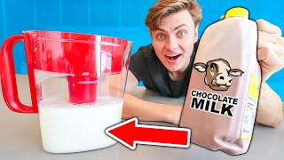 CAN YOU FILTER CHOCOLATE OUT OF MILK?? (Gone Wrong)