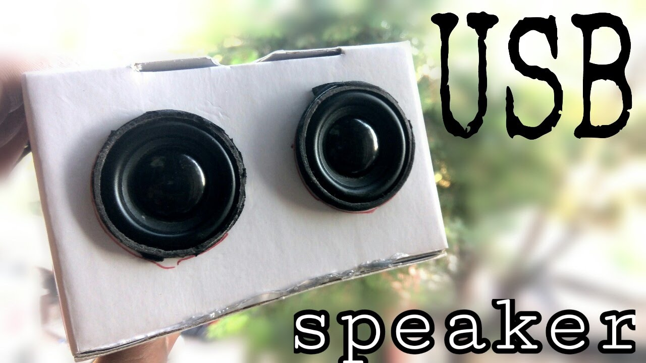 how to make a usb speaker at home diy 2 0 speaker very simple youtube [ 1280 x 720 Pixel ]