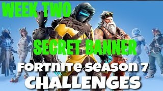Fortnite Battle Royale | Season 7 Week 2 Challenge | Snowfall Secret Banner Location Guide