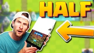 HALF A SCREEN :: Clash Royale :: I CANT SEE ANYTHING!