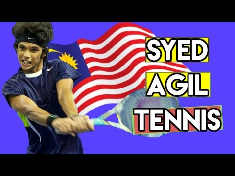 Syed Mohd Agil Practice   Malaysian Tennis Hero