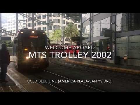 San Diego MTS Trolley 1993 Siemens SD-100 #2002 | Coin Lloyd's Transit Hub