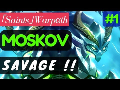 Savage !!! [Rank 1 Moskov] | Moskov Gameplay and Build By 「Saints」Warpαth #1 Mobile Legends