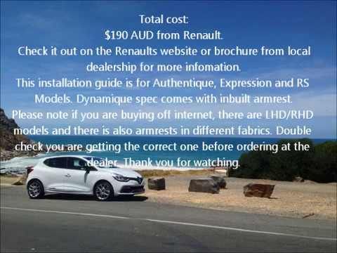 renault clio iv armrest installation youtube. Black Bedroom Furniture Sets. Home Design Ideas