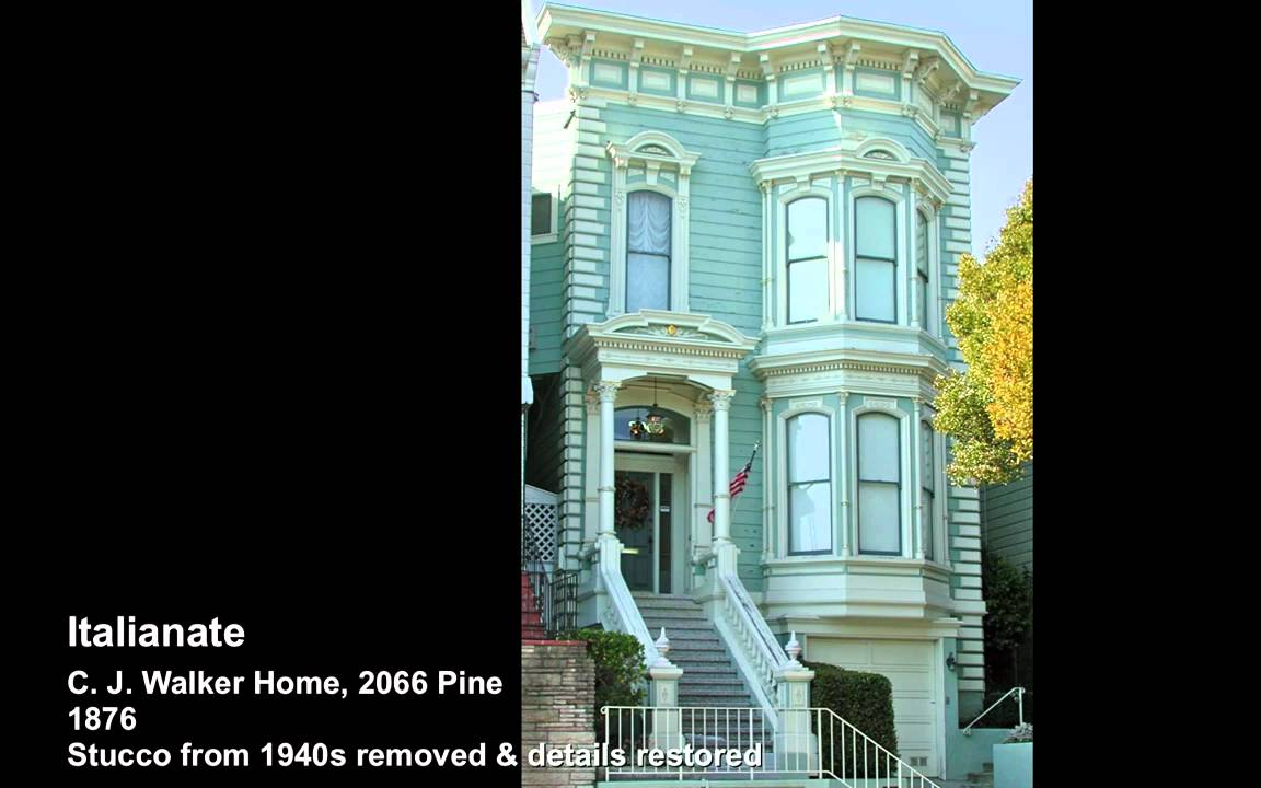 Italianate san francisco residential architectural styles for Residential architectural design styles