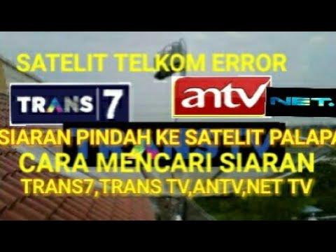 Cara cari Kembali Siaran TRANS7,TRANS TV dan ANTV yang hilang di Karenakan Satelit Telkom1 Gangguan