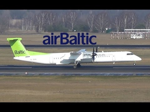 Air Baltic DHC-8-402 Dash 8 [YL-BAE] takeoff @ Berlin Tegel