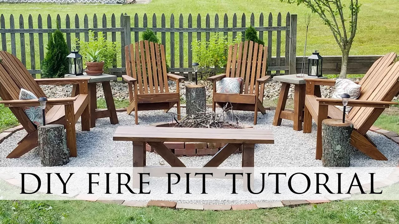diy fire pit backyard budget decor youtube