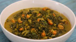 নীরব হোটেলের পুঁই শাক চিংড়ি malabar spinach with shrimp pui shak recipe bangladeshi shak